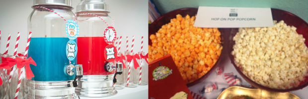 Dr Seuss Baby Shower Food Station