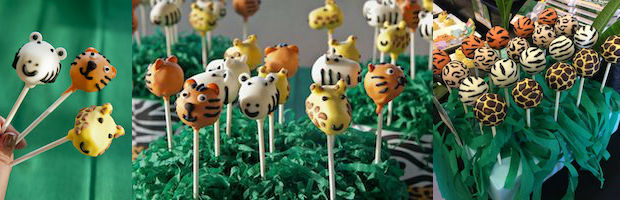 Safari Baby Shower Cake Pops