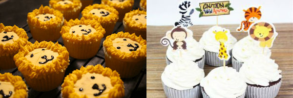 Safari Baby Shower Cupcakes