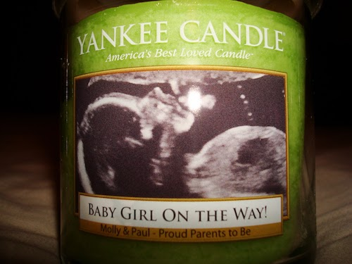 Yankee Candle Sonogram Baby Shower Thank You Gifts